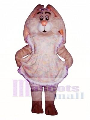 Easter Bunny Rabbit with Apron Mascot Costume Animal
