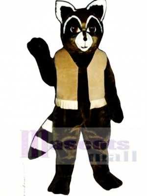 Ryan Raccoon with Vest Mascot Costume Animal