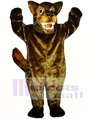 Cute Mean Wolf Mascot Costume Animal