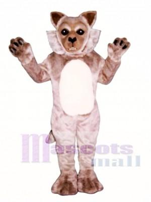 Cute Timber Wolf Mascot Costume Animal