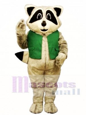 Raccoon with Vest Mascot Costume Animal