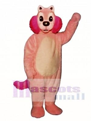 Cute Pink Mink Mascot Costume Animal