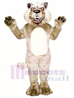 Cute Growling Wolf Mascot Costume Animal