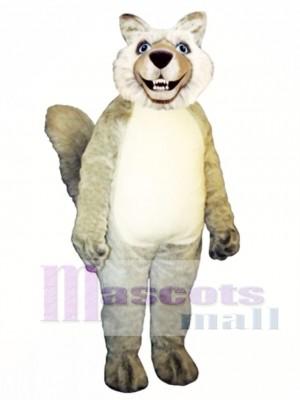 Cute Smiling Wolf Mascot Costume Animal