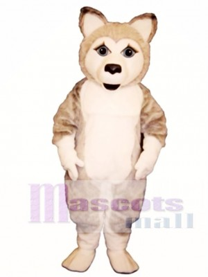 Cute Girl Wolf Mascot Costume Animal