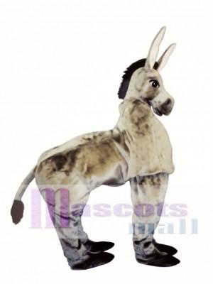 Cute Two Man Donkey Mascot Costume Animal