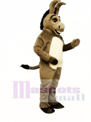 Cute Happy Donkey Mascot Costume Animal