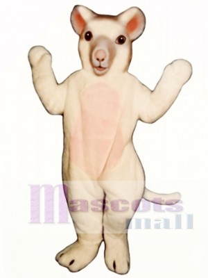 White Mouse Mascot Costume Animal