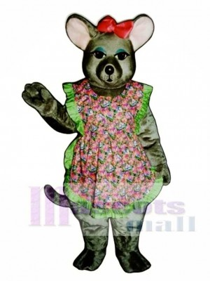 Charlotte Mouse with Apron & Bow Mascot Costume Animal