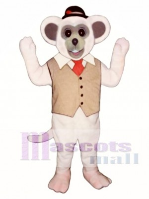 Marty Mouse With Vest And Hat Mascot Costume Animal