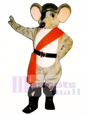 River Rat with Eye Patch, Sash & Boots Mascot Costume Animal
