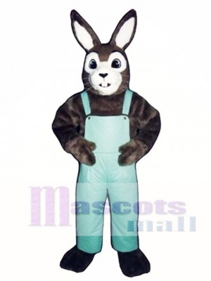 Easter J.R. Bunny Rabbit with Bib Overalls Mascot Costume Animal