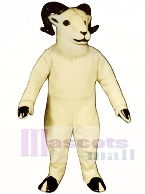Cute Sheep Big Horned Mascot Costume Animal