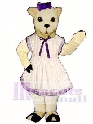Lamb with Apron & Bow Mascot Costume Animal