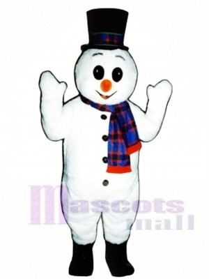 Extra Round Snowman with Hat & Scarf Christmas Mascot Costume Christmas Xmas