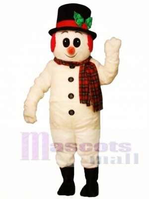 Cute Crystal Snowboy with Hat, Muffs & Scarf Mascot Costume Xmas