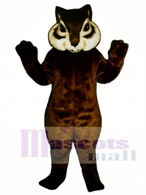 Realistic Chipmunk with Short Tail Mascot Costume Animal