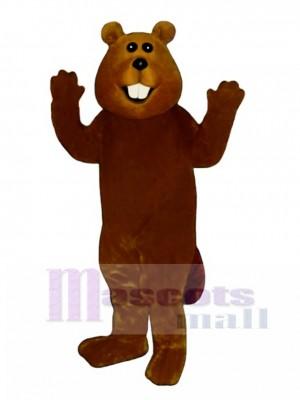 Charlie Beaver Mascot Costume Animal