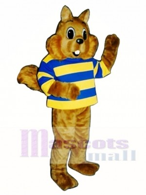 Sunny Squirrel with Shirt Mascot Costume Animal