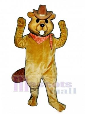 Western Beaver with Hat & Neckerchief Mascot Costume Animal