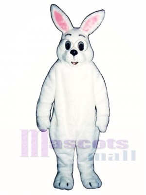 Cute Easter Bunny Rabbit with Glasses Mascot Costume Animal