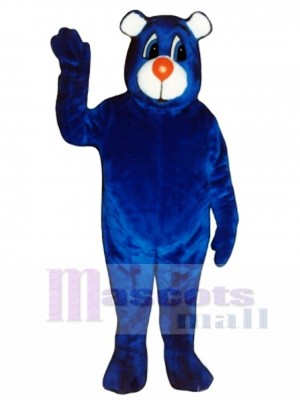 New Blue Bear Mascot Costume Animal