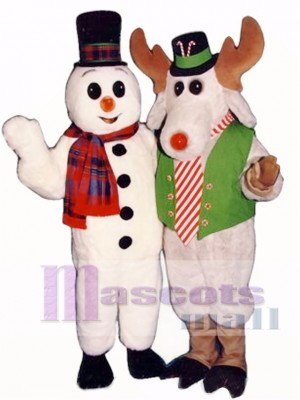 Peppermint Moose with Lite-up Nose Christmas Mascot Costume Animal