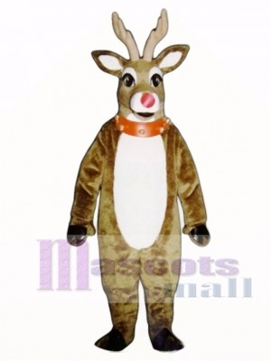 Mistletoe Deer with Lite-up Nose, Collar & Cuffs Christmas Mascot Costume Animal