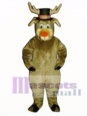 Cute Roscoe Deer with Hat Christmas Mascot Costume Animal