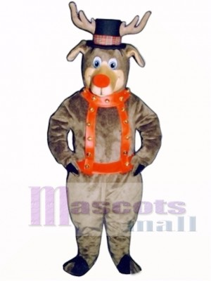Roscoe Reindeer with Halter & Hat Mascot Costume Animal