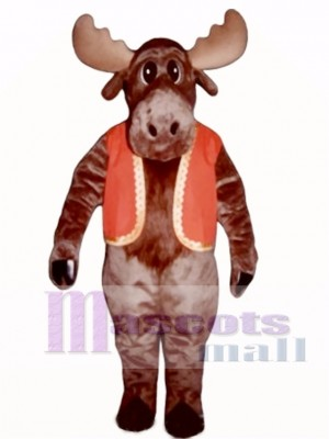 Milton Moose with Christmas Vest Mascot Costume Animal