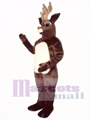 Sled Deer with Lite-Up Nose Mascot Costume Animal