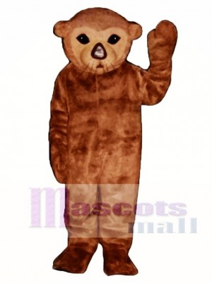 Cute Realistic Sea Otter Mascot Costume Animal