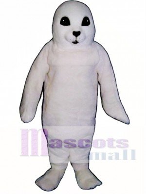 Cute White Baby Seal Mascot Costume Animal