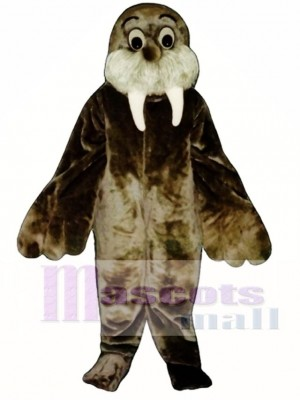 Cute Wally Walrus Mascot Costume Animal