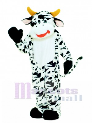 Cute Deluxe Moo Cow Mascot Costume Animal