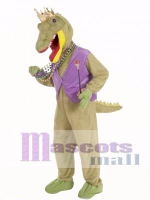 Mardi Gras Alligator King Mascot Costume Animal