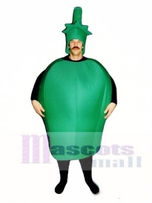 Green Pepper Mascot Costume Vegetable