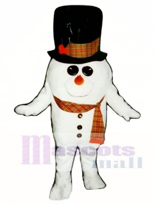 Madcap Snowman with Scarf Mascot Costume Christmas Xmas