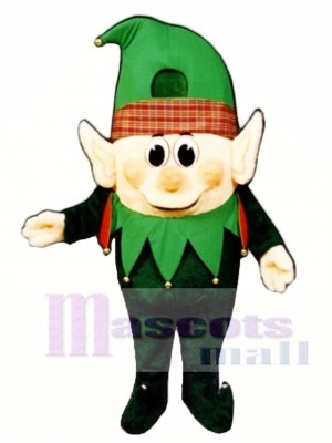 Madcap Boy Elf Mascot Costume Christmas Xmas