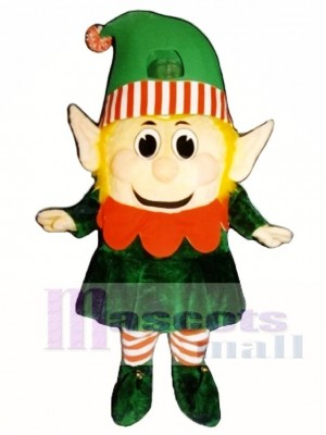 Madcap Girl Elf Mascot Costume Christmas Xmas