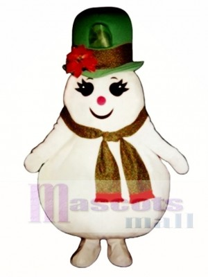 Madcap Snow Girl Mascot Costume Christmas Xmas
