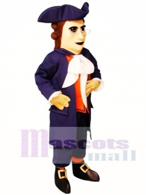 Colonial Man Mascot Costume People