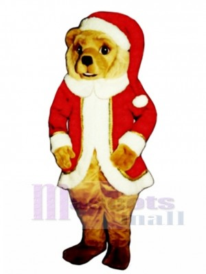 Red St. Bear Claws Christmas Mascot Costume Animal