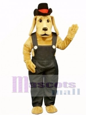Cute Farmer Dog Mascot Costume Animal