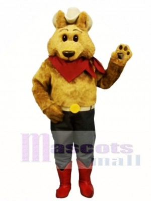 Cute Cowboy Coyote Wolf Mascot Costume Animal