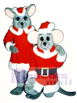 Chris Mouse (Kneeling) Christmas Mascot Costume Animal