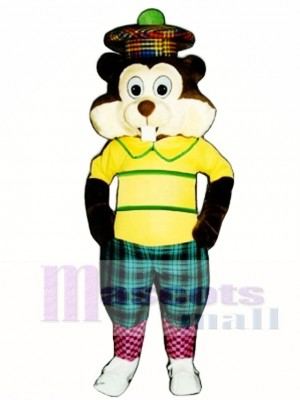 Golfing Gopher Mascot Costume Animal