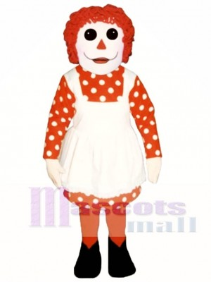 Girl Rag Doll Mascot Costume