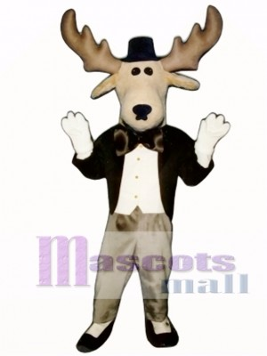 Cute Moose About Town Mascot Costume Animal